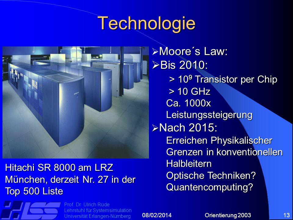 08/02/2014Orientierung 200313 Prof. Dr.