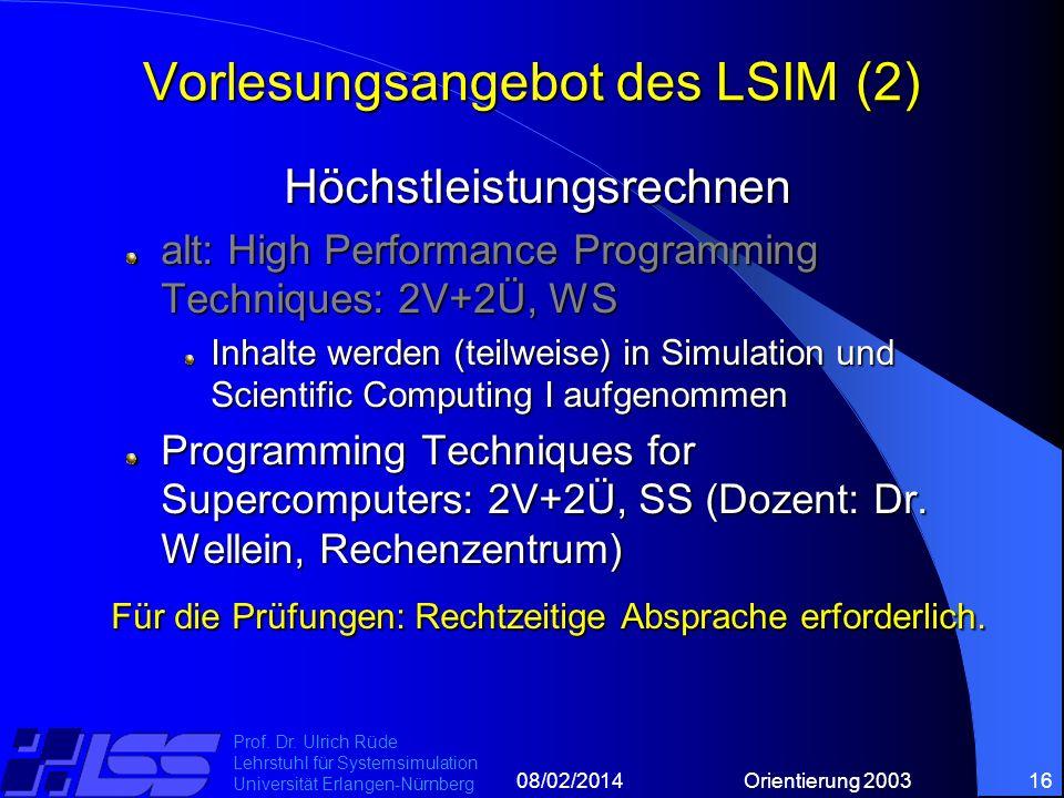 08/02/2014Orientierung 200316 Prof. Dr.