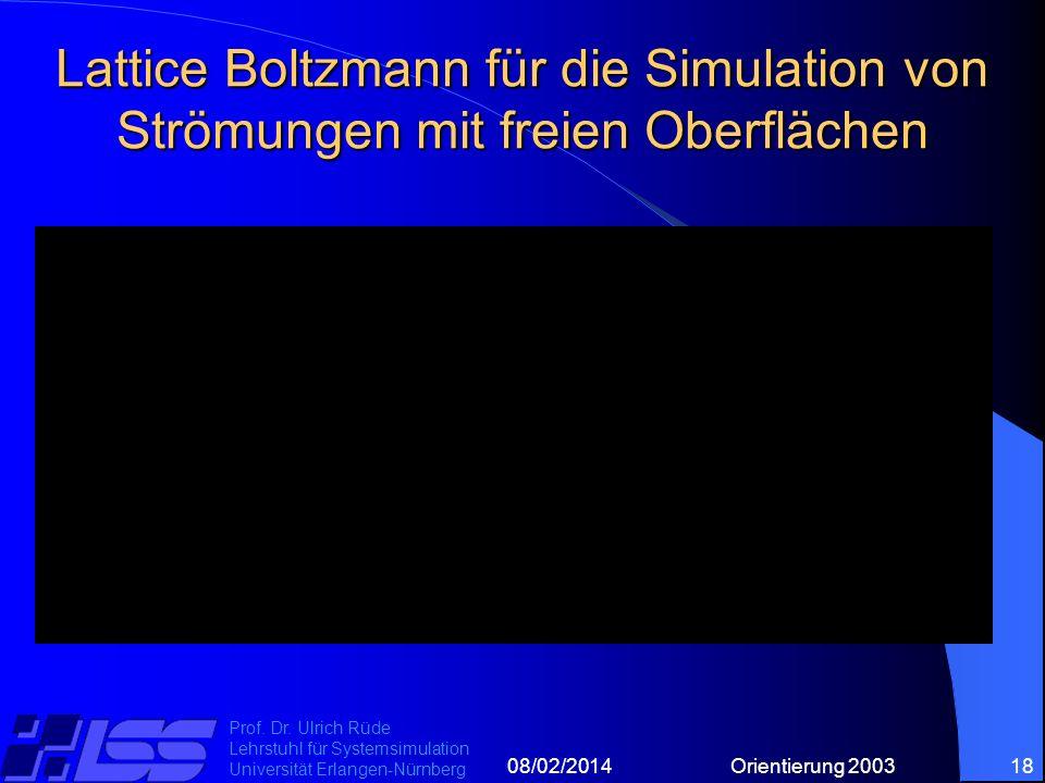 08/02/2014Orientierung 200318 Prof. Dr.