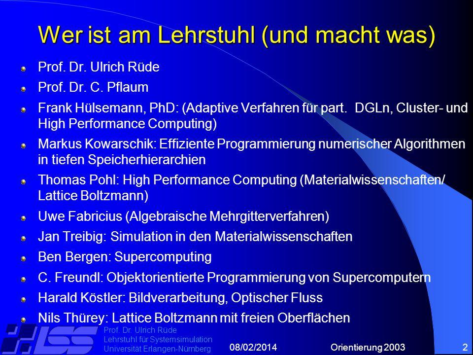 08/02/2014Orientierung 20032 Prof. Dr.