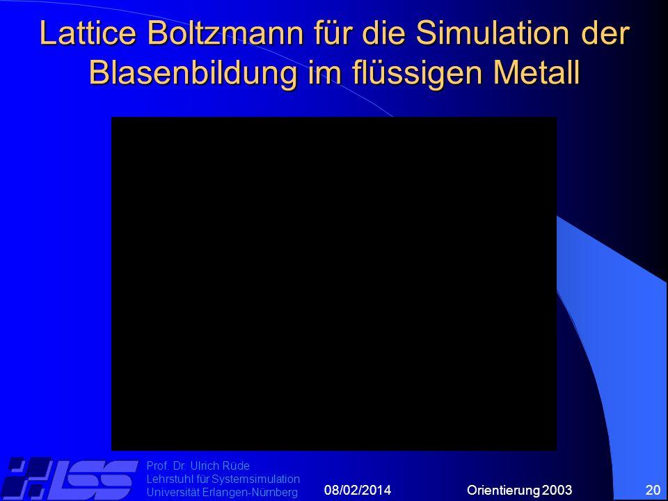 08/02/2014Orientierung 200320 Prof. Dr.