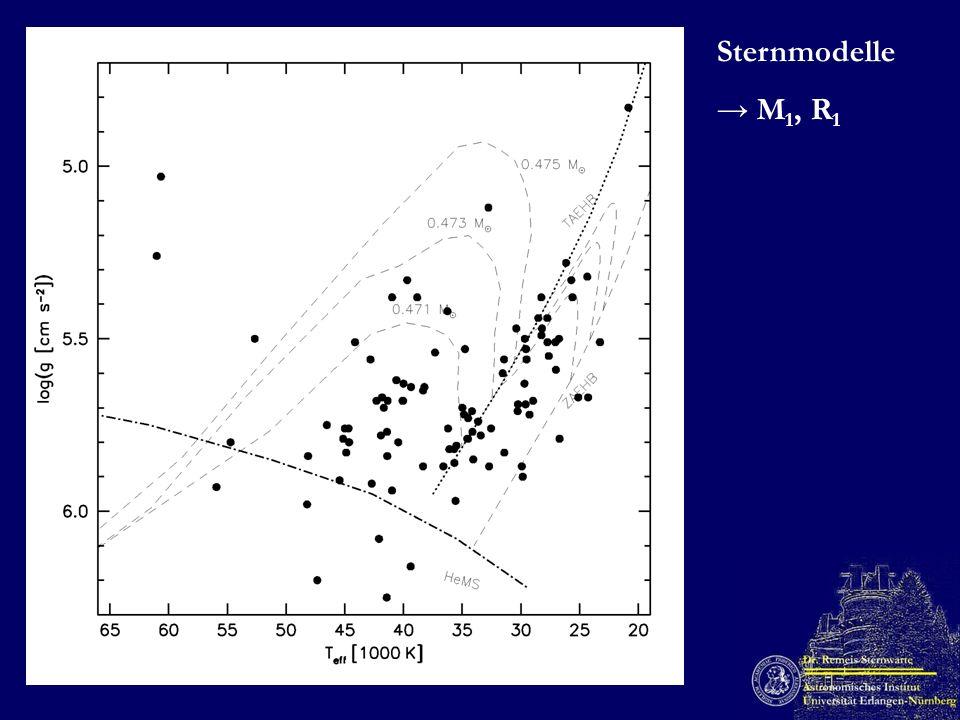 Sternmodelle M 1, R 1