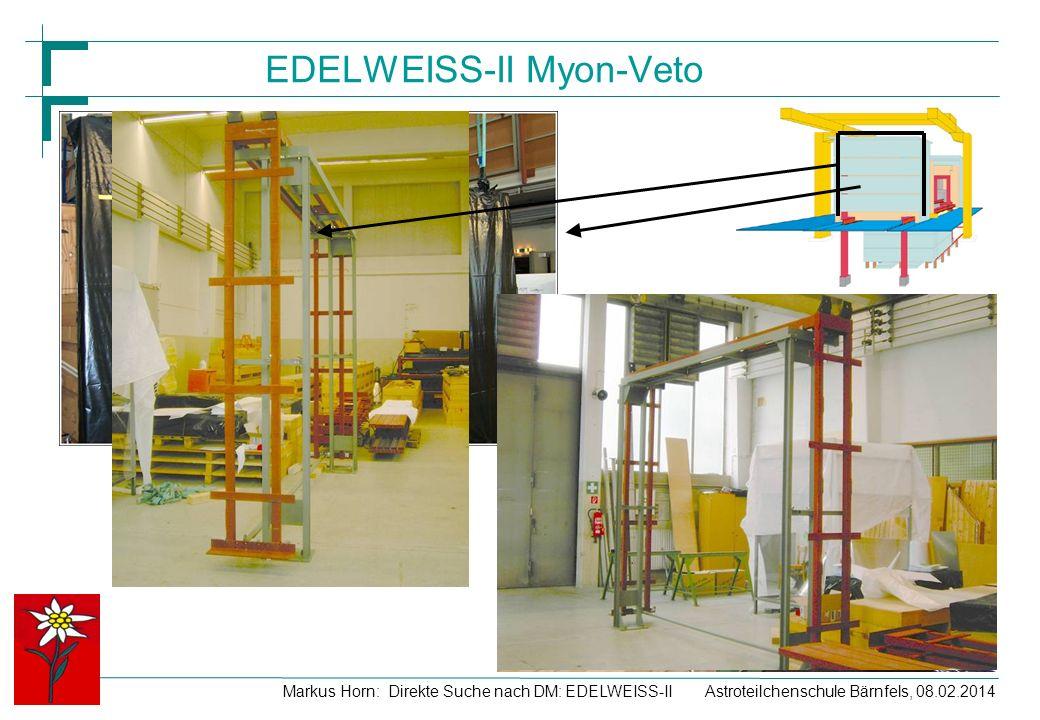 Astroteilchenschule Bärnfels, 08.02.2014Markus Horn: Direkte Suche nach DM: EDELWEISS-II EDELWEISS-II Myon-Veto