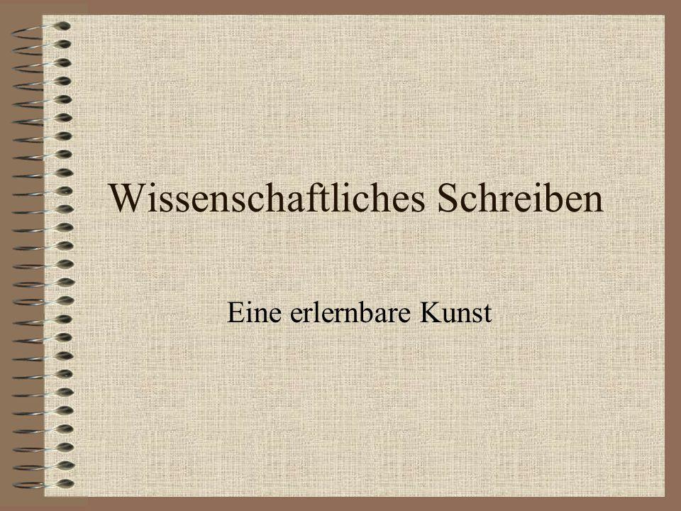 Empfehlung Umberto Eco (2007): Wie man eine wissenschaftliche Abschlußarbeit schreibt.