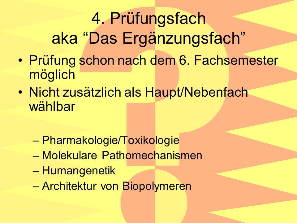 4. Prüfungsfach aka Das Ergänzungsfach Prüfung schon nach dem 6.