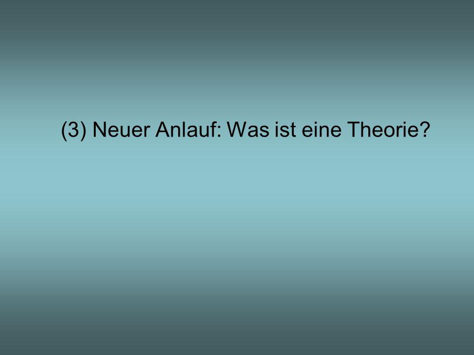 (3) Neuer Anlauf: Was ist eine Theorie?