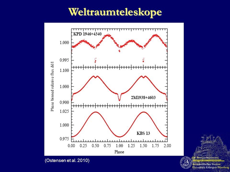 O-C-Methode (HW Vir, Lee et al. 2009) Planet/Brauner Zwerg M = 19 M Jup