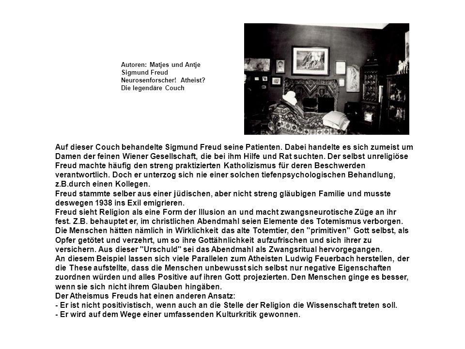 Auf dieser Couch behandelte Sigmund Freud seine Patienten. Dabei handelte es sich zumeist um Damen der feinen Wiener Gesellschaft, die bei ihm Hilfe u