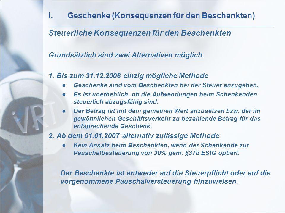 II.Pauschalbesteuerung gem.§37b EStG Exkurs Pauschalbesteuerung gem.