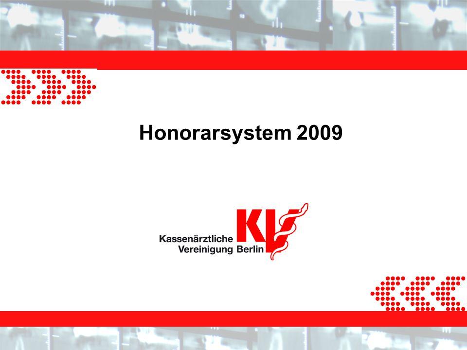 Honorarsystem 2009 Informationsveranstaltung 24.11.2008 Seite 12 Abrechnung von Komplexen Die Abrechnung erfolgte praxisbezogen und erfolgt jetzt arztbezogen.