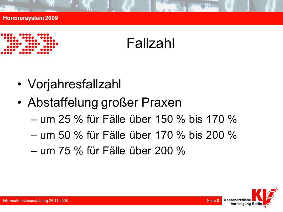 Honorarsystem 2009 Informationsveranstaltung 24.11.2008 Seite 19 Vielen Dank für Ihre Aufmerksamkeit www.kraffel.de/Vortrag