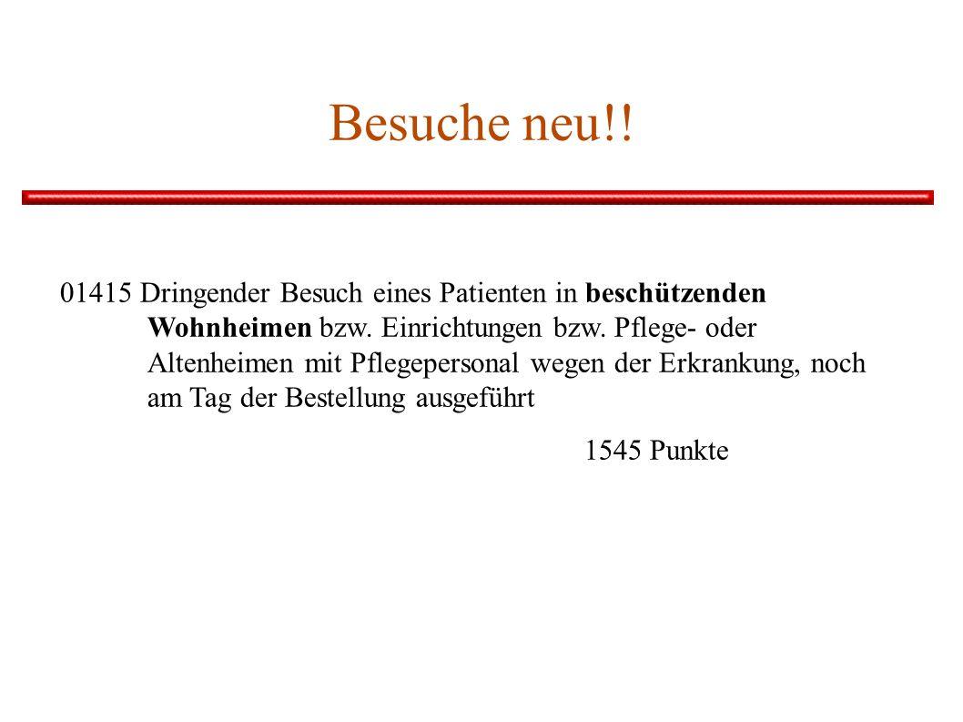 Besuche neu!.01415 Dringender Besuch eines Patienten in beschützenden Wohnheimen bzw.
