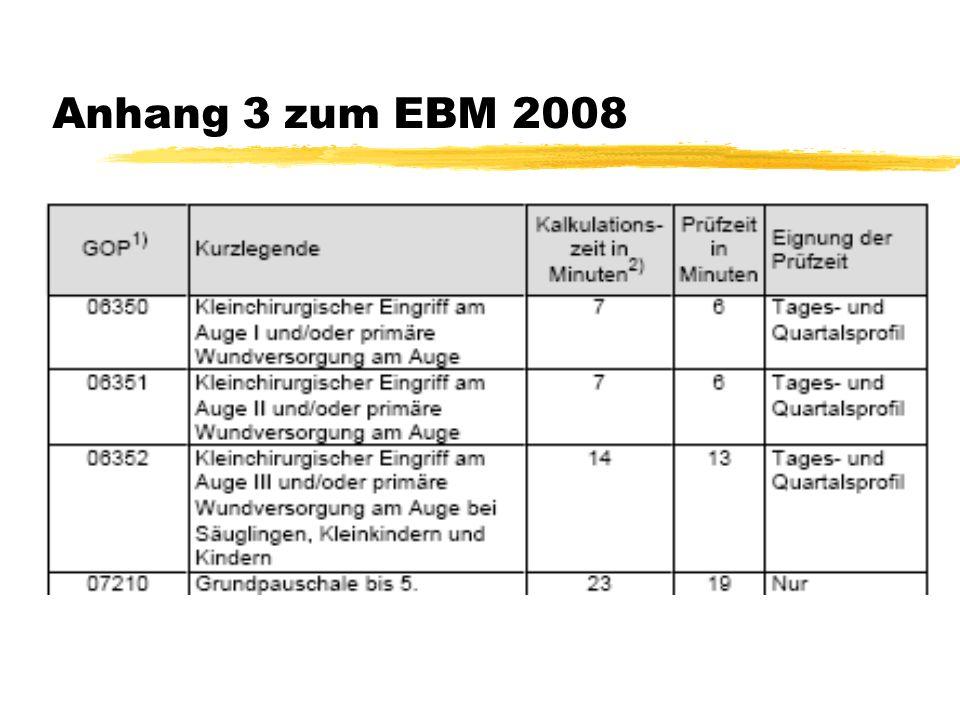 Anhang 3 zum EBM 2008
