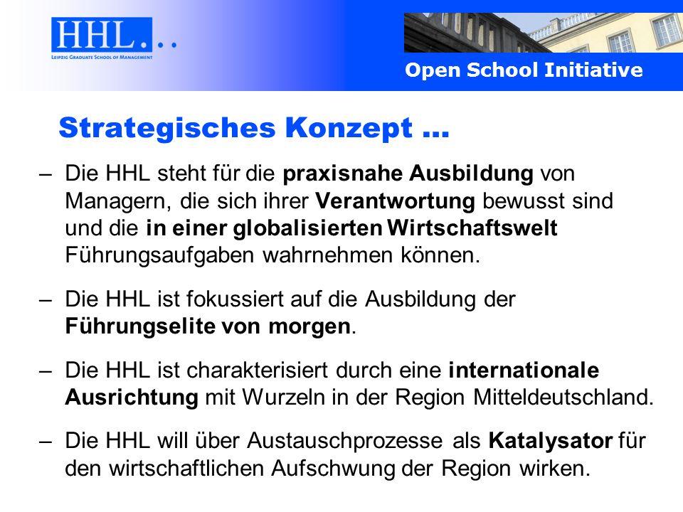 Open School Initiative Zukunftsausrichtung … Austauschprozesse als Basis der langfristigen und nachhaltigen Etablierung der HHL im Markt führender Business Schools: