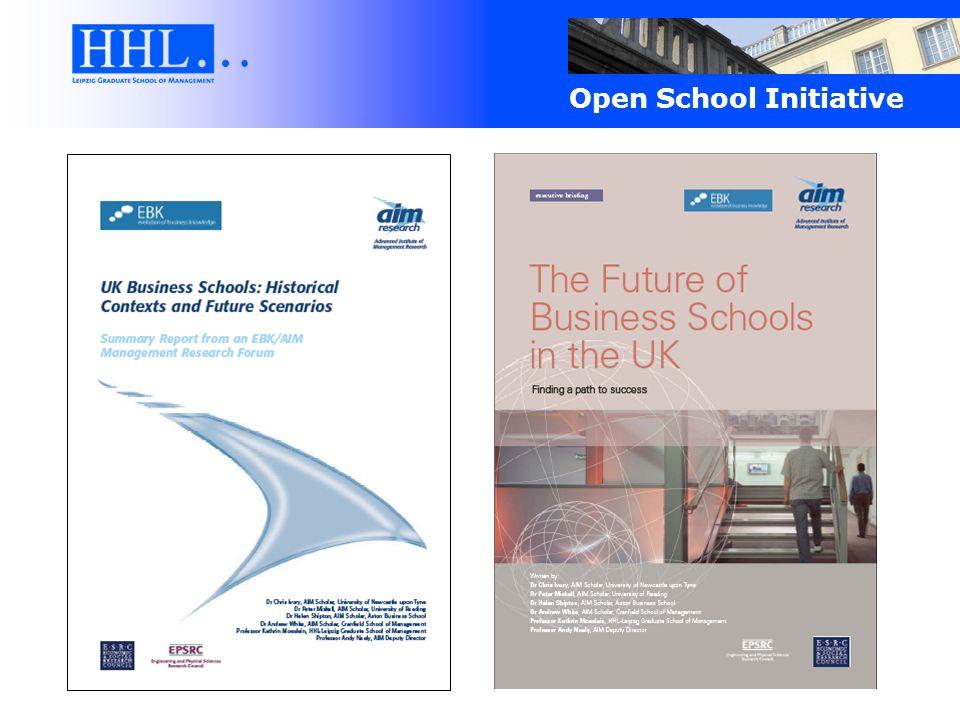 Die HHL Open School Initiative … greift den Wandel der Wirtschaftspraxis von einem Modell der Closed Innovation zu einem Modell der Open Innovation auf.