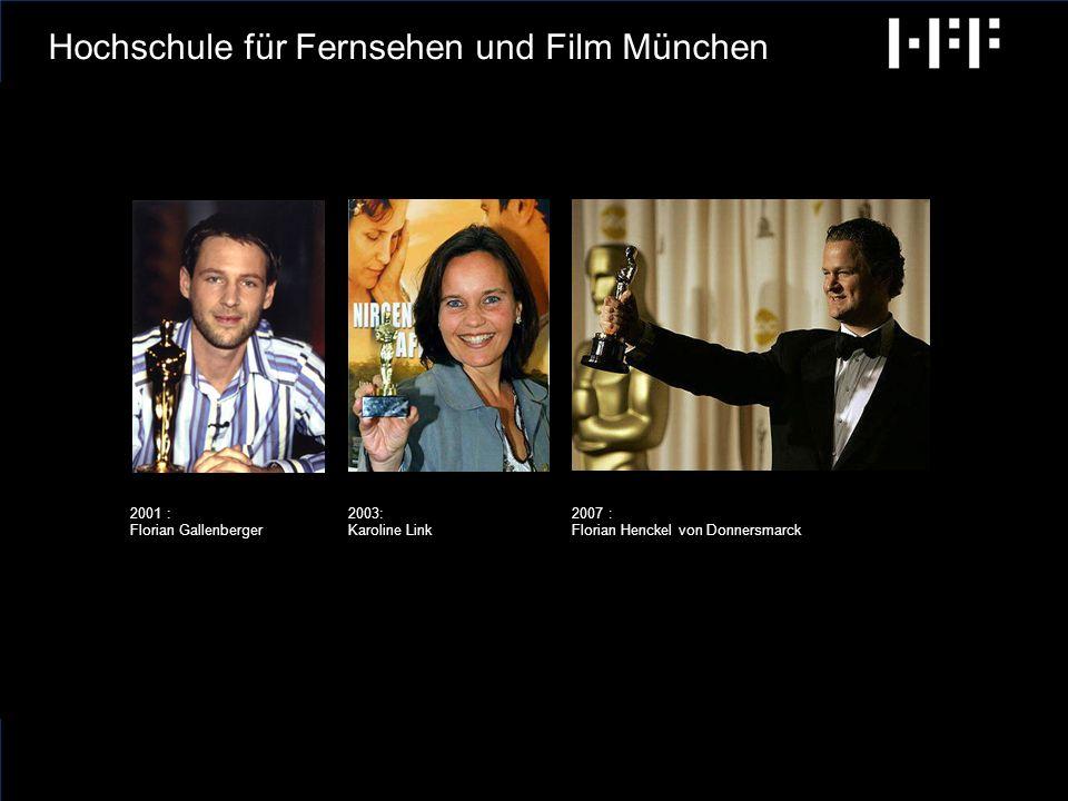 radiobremen GCA Ingenieure AG Hochschule für Fernsehen und Film München -340 Studierende -7 volle Professuren 5 halbe Professuren 5 Abteilungsleiter -63 Mitarbeiterinnen und Mitarbeiter Die HFF in Zahlen: