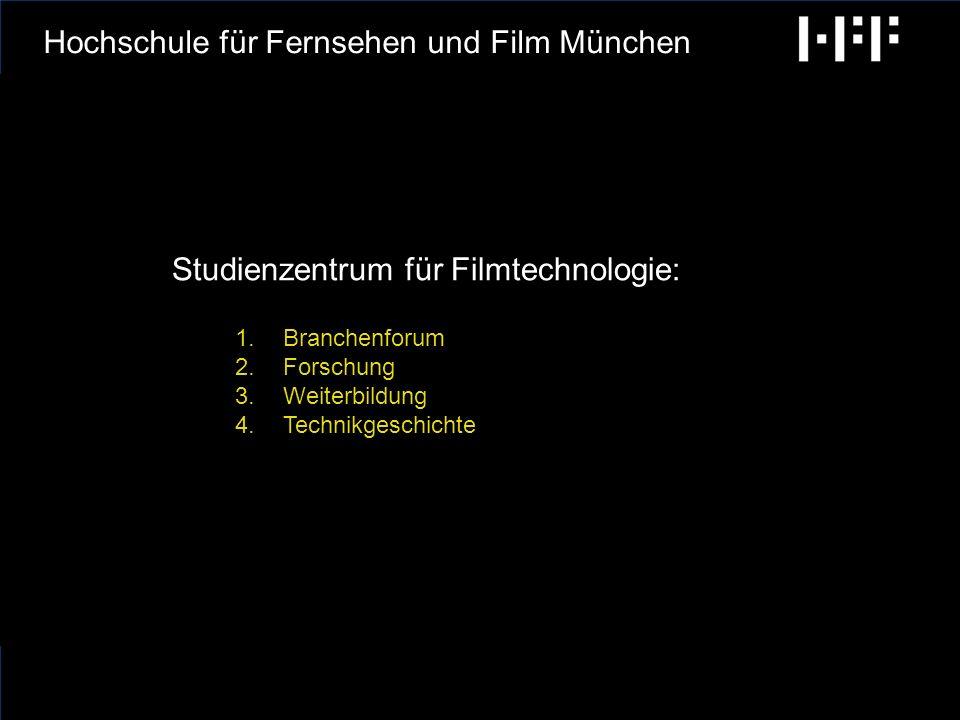 radiobremen GCA Ingenieure AG Ab 20.10.2010: Hochschule für Fernsehen und Film München