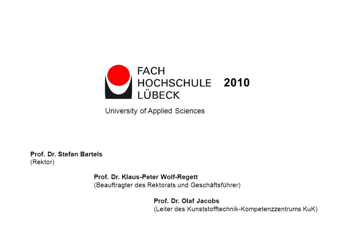 Prof. Dr. Stefan Bartels (Rektor) Prof. Dr. Klaus-Peter Wolf-Regett (Beauftragter des Rektorats und Geschäftsführer) Prof. Dr. Olaf Jacobs (Leiter des
