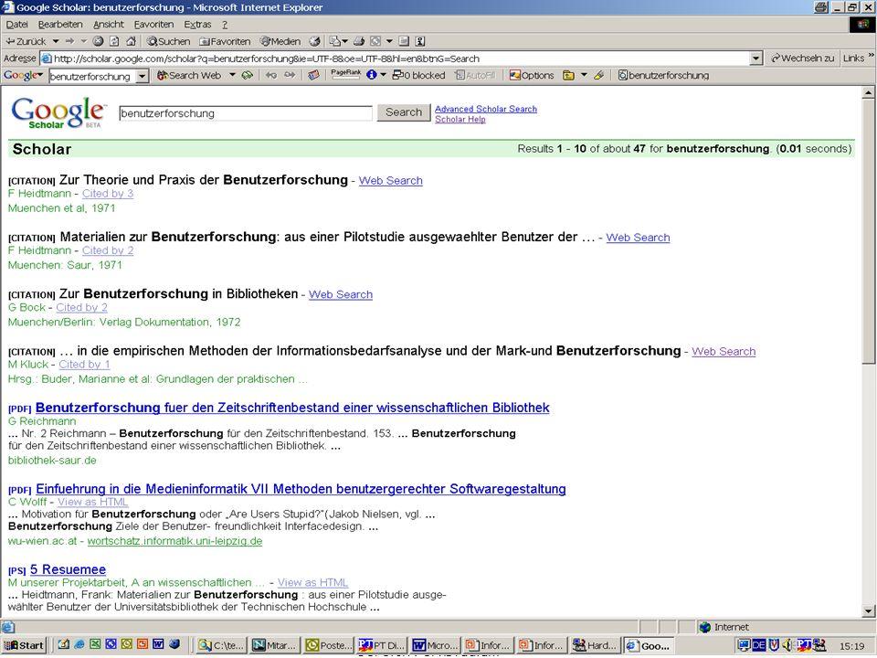 Michael Kluck April 2007 Humboldt-Universität zu Berlin, Institut für Bibliotheks- und Informationswissenschaft, Bereich Fernstudium 13