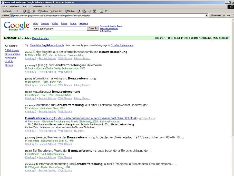 Michael Kluck April 2007 Humboldt-Universität zu Berlin, Institut für Bibliotheks- und Informationswissenschaft, Bereich Fernstudium 14