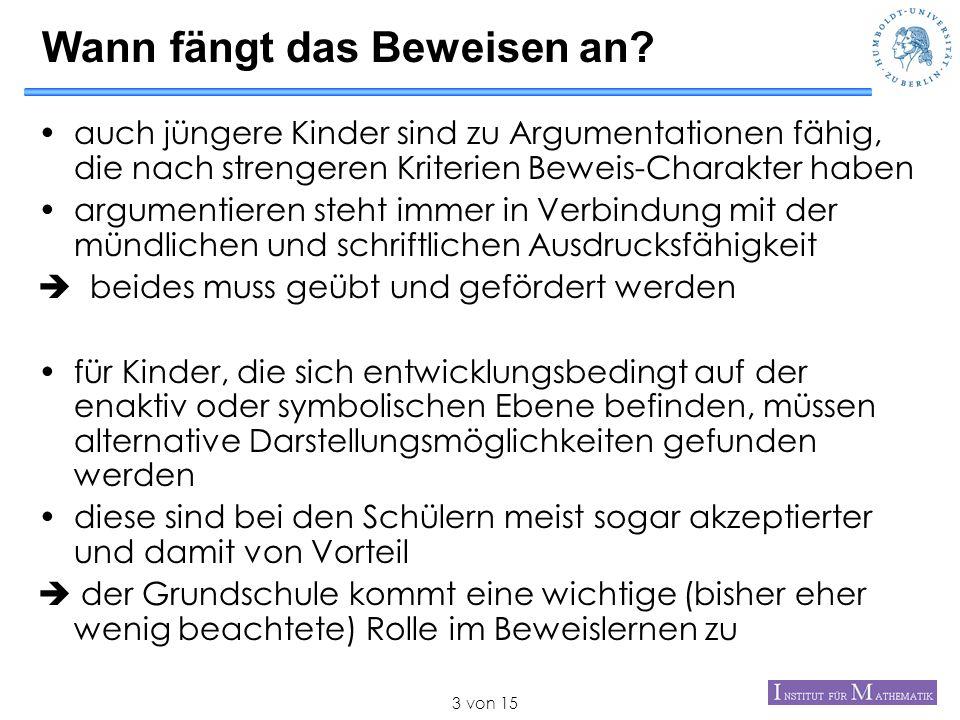 von 1514 Literatur –Besuden(1979): Vollständige Induktion in der Grundschule.