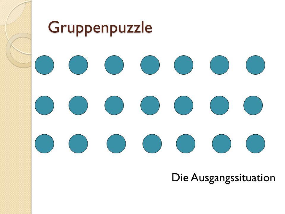 Gruppenpuzzle Stammgruppen- Bildung
