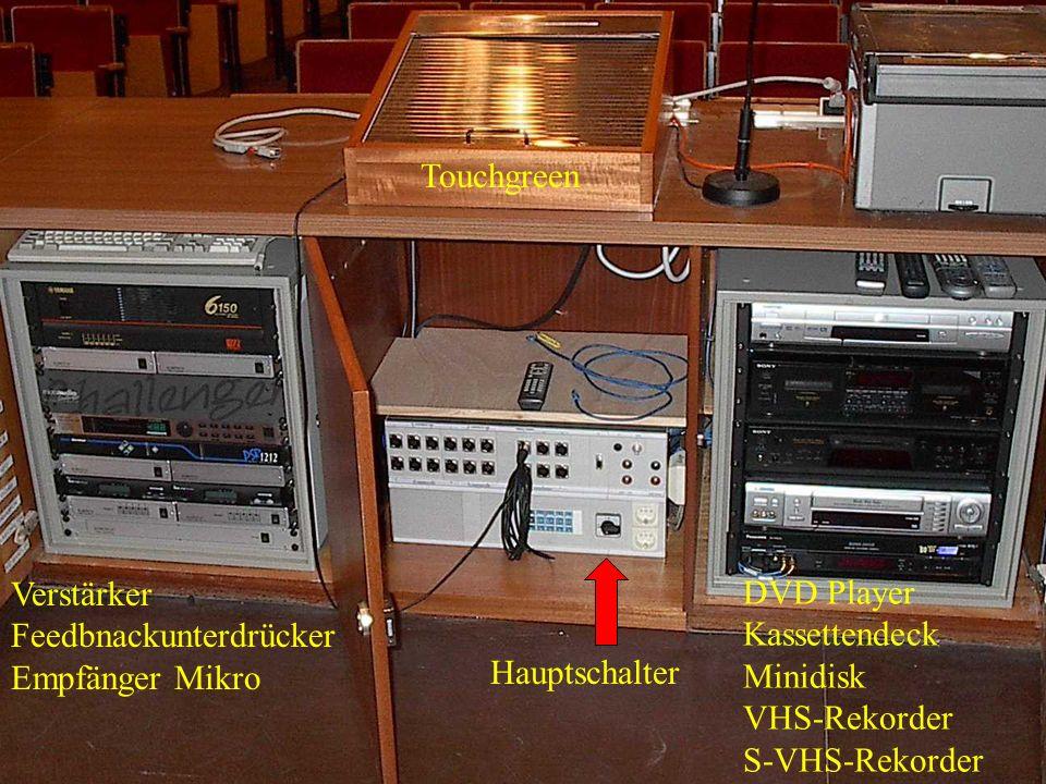 Touchgreen Verstärker Feedbnackunterdrücker Empfänger Mikro Hauptschalter DVD Player Kassettendeck Minidisk VHS-Rekorder S-VHS-Rekorder