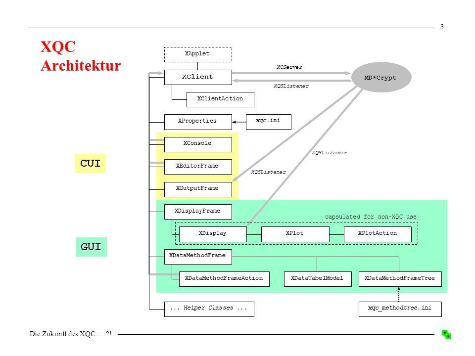 Die Zukunft des XQC … ! 2 XQC 1.4.004 – Stand heute