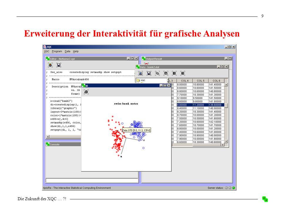 Die Zukunft des XQC … ?! 9 Erweiterung der Interaktivität für grafische Analysen