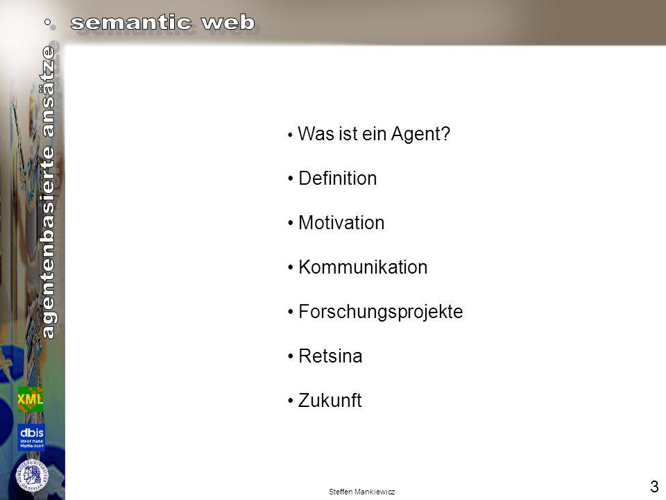 Steffen Mankiewicz Was ist ein Agent .