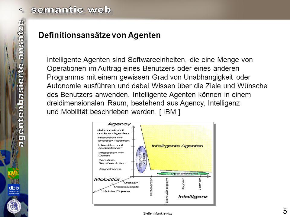 Steffen Mankiewicz Definitionsansätze von Agenten 6