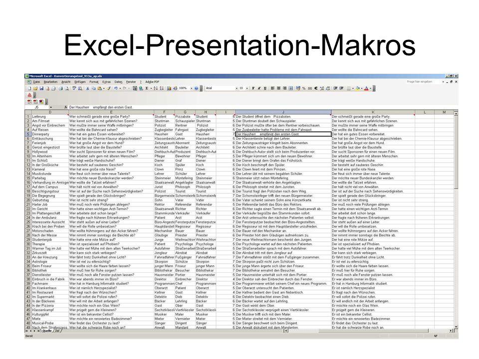 Excel-Presentation-Makros