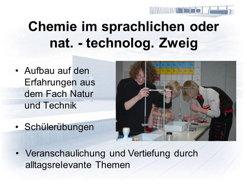 Chemie im sprachlichen oder nat. - technolog.