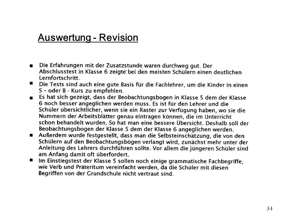 34 Auswertung - Revision