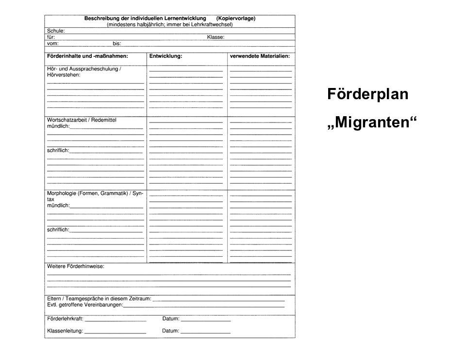 Förderplan Migranten