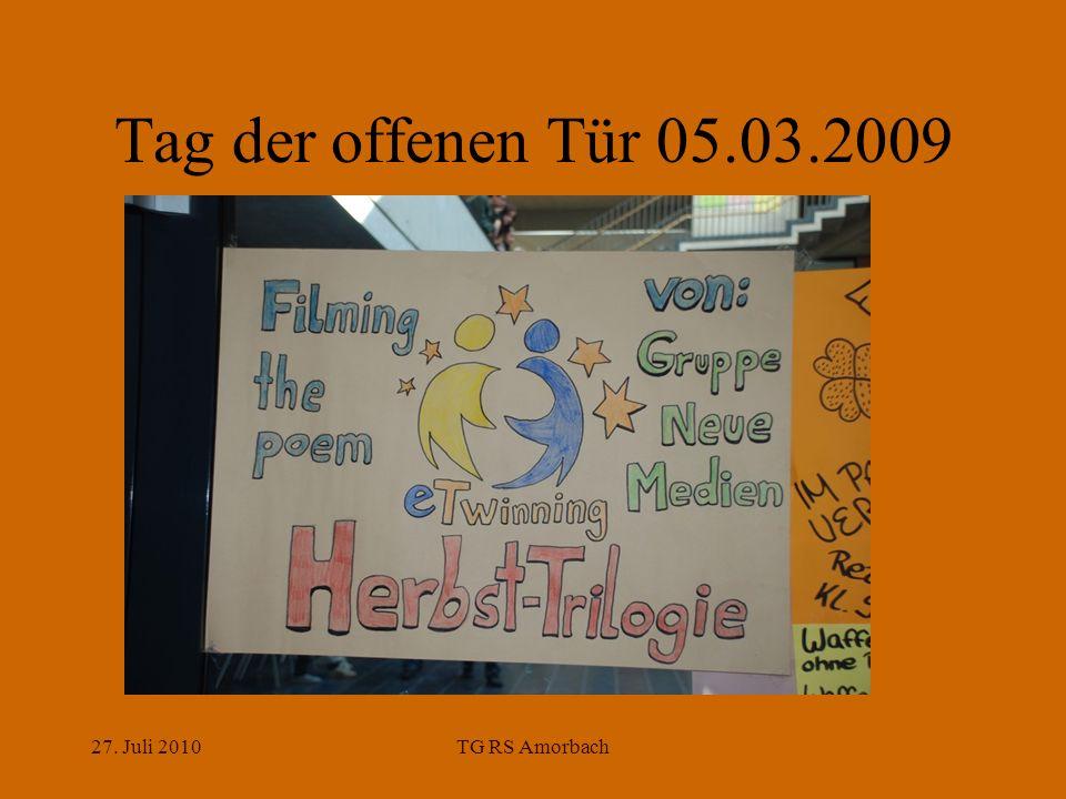 27. Juli 2010TG RS Amorbach Tag der offenen Tür 05.03.2009