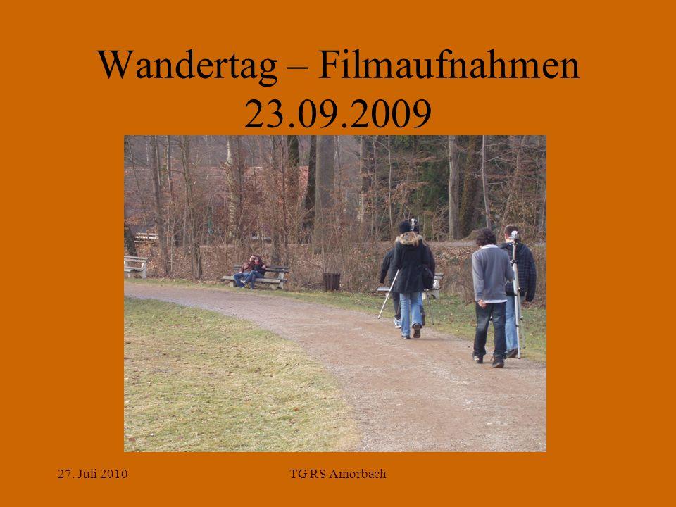 27. Juli 2010TG RS Amorbach Wandertag – Filmaufnahmen 23.09.2009