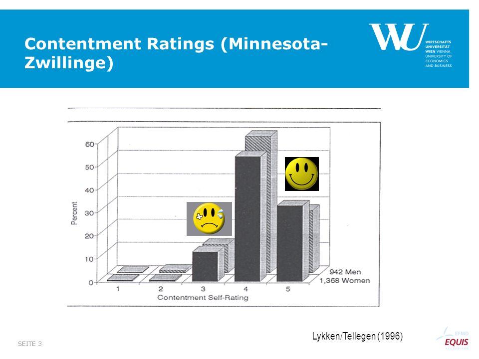 SEITE 3 Contentment Ratings (Minnesota- Zwillinge) Lykken/Tellegen (1996)