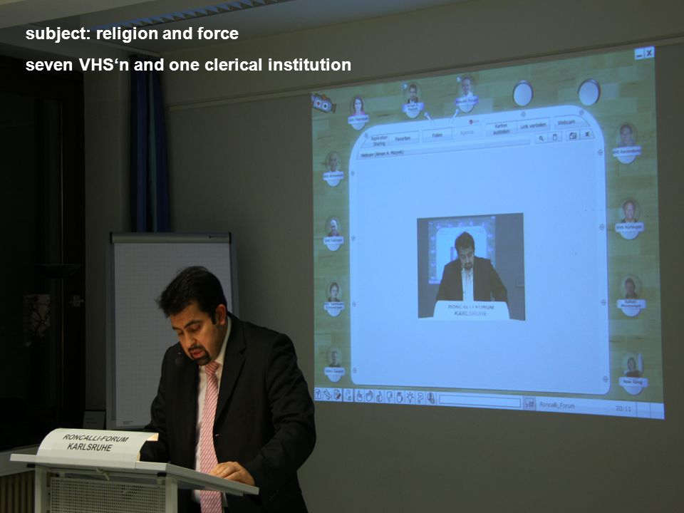 subject: religion and force seven VHSn and one clerical institution