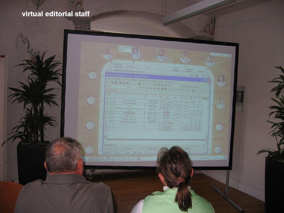 virtual editorial staff