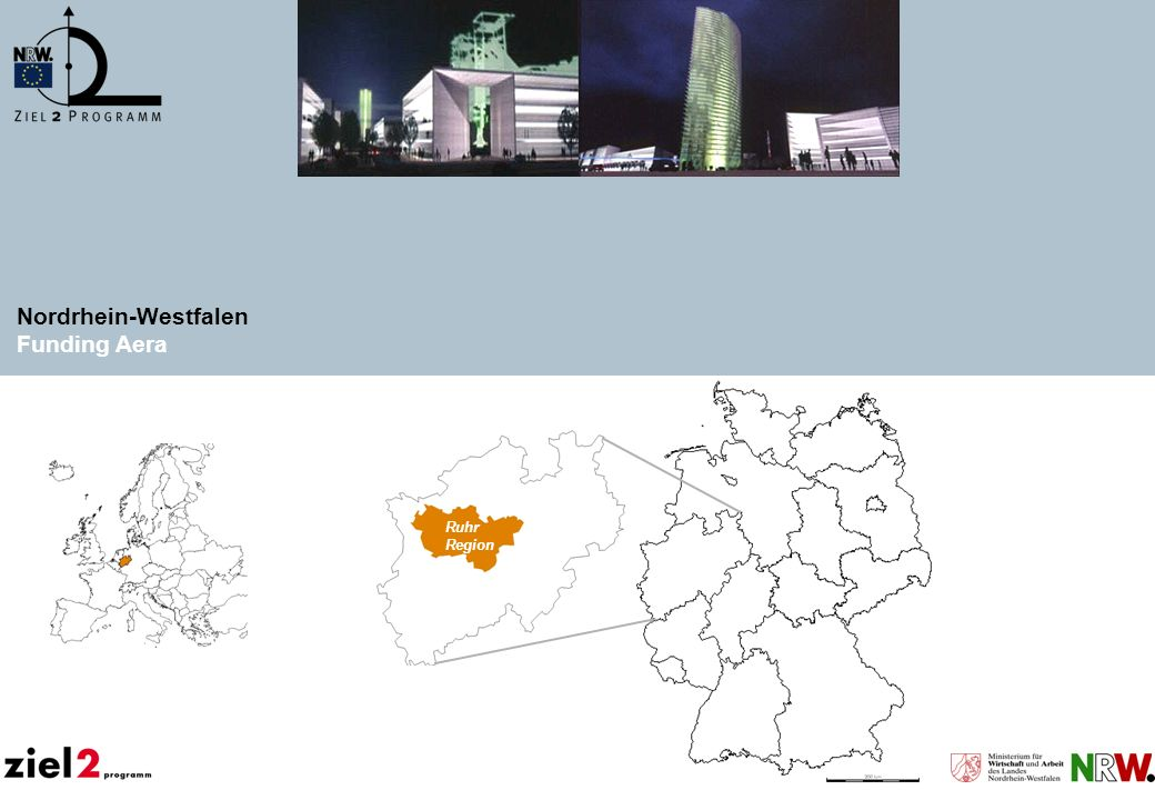 Nordrhein-Westfalen Funding Aera Düssel dorf Dortmu nd Essen Cologn e Duisbu rg Ruhr Region
