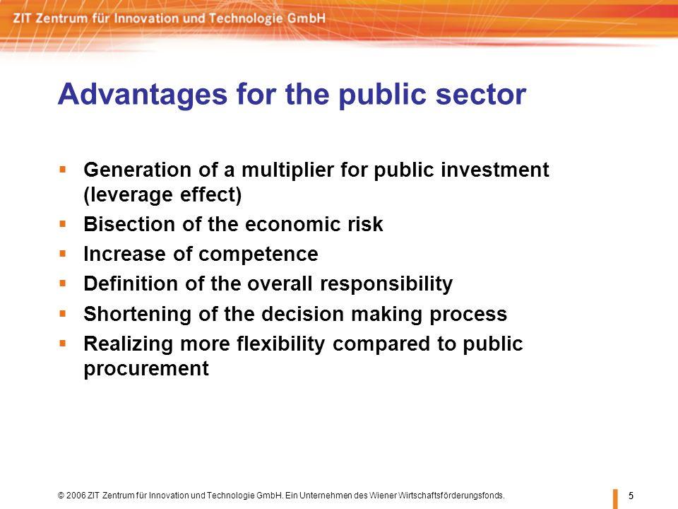 © 2006 ZIT Zentrum für Innovation und Technologie GmbH. Ein Unternehmen des Wiener Wirtschaftsförderungsfonds. 5 Advantages for the public sector Gene