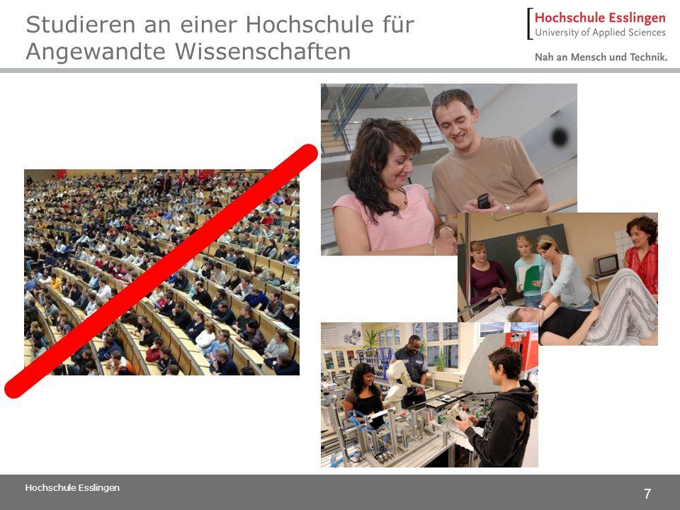7 Studieren an einer Hochschule für Angewandte Wissenschaften Hochschule Esslingen