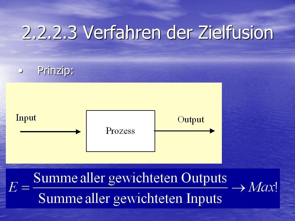 2.2.2.3 Verfahren der Zielfusion Prinzip:Prinzip: