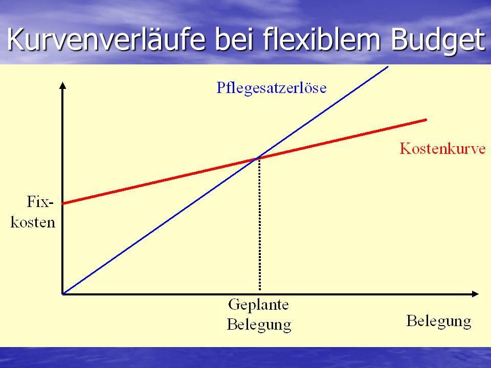 Kurvenverläufe bei flexiblem Budget
