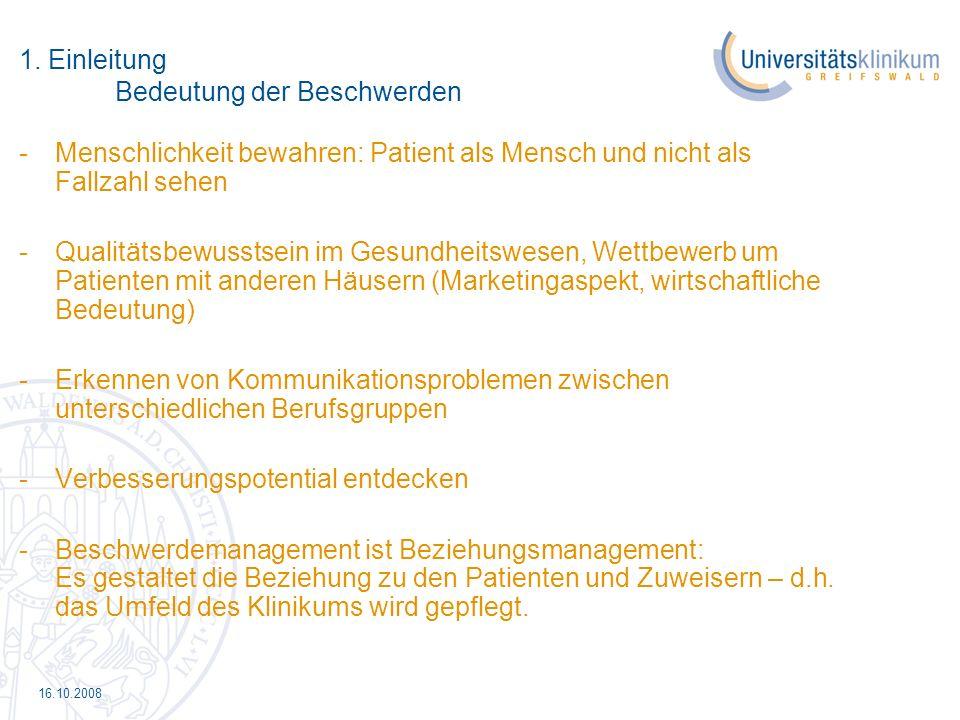16.10.2008 6.Erfolgsfaktoren beim Beschwerdemanagement - Die Beschwerde ist ein Geschenk.