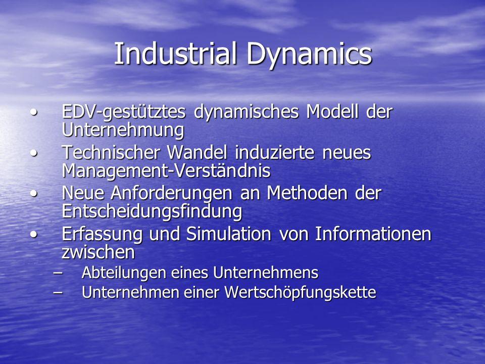 Industrial Dynamics EDV-gestütztes dynamisches Modell der UnternehmungEDV-gestütztes dynamisches Modell der Unternehmung Technischer Wandel induzierte