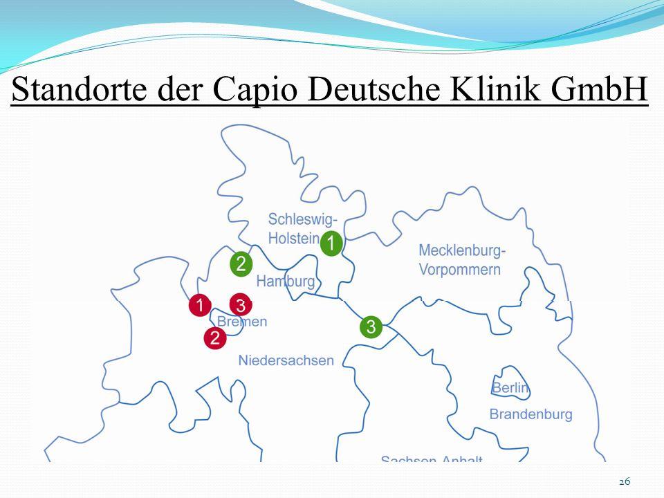 Standorte der Capio Deutsche Klinik GmbH 26
