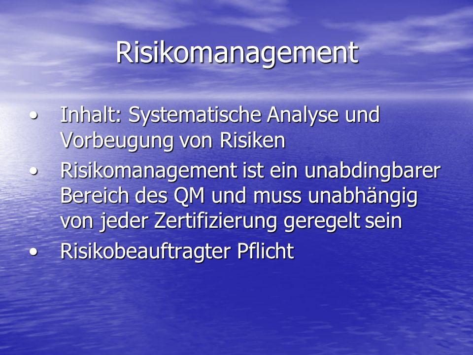 Risikomanagement Inhalt: Systematische Analyse und Vorbeugung von RisikenInhalt: Systematische Analyse und Vorbeugung von Risiken Risikomanagement ist
