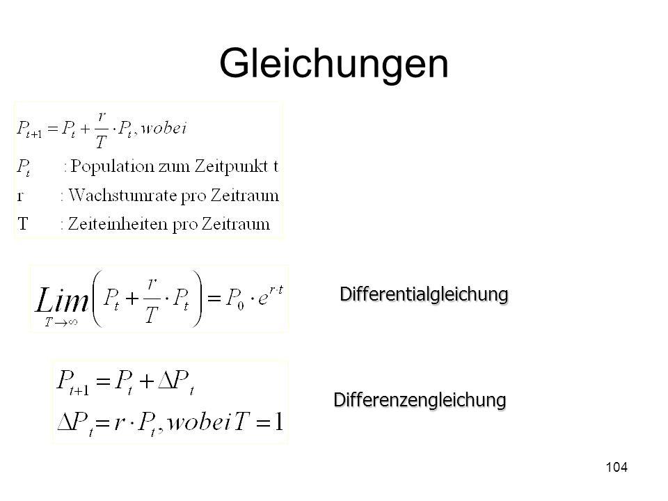 Gleichungen Differentialgleichung Differenzengleichung 104